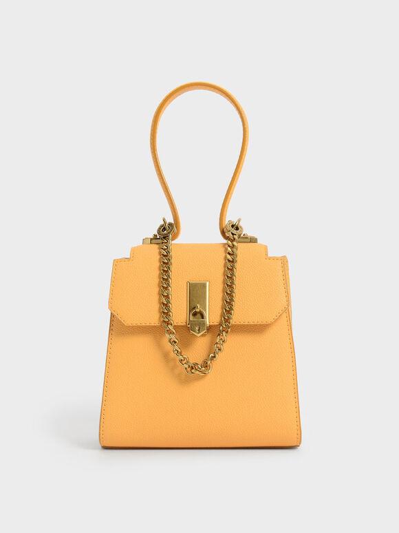Tas Trapeze Top Handle Chain Link, Mustard, hi-res