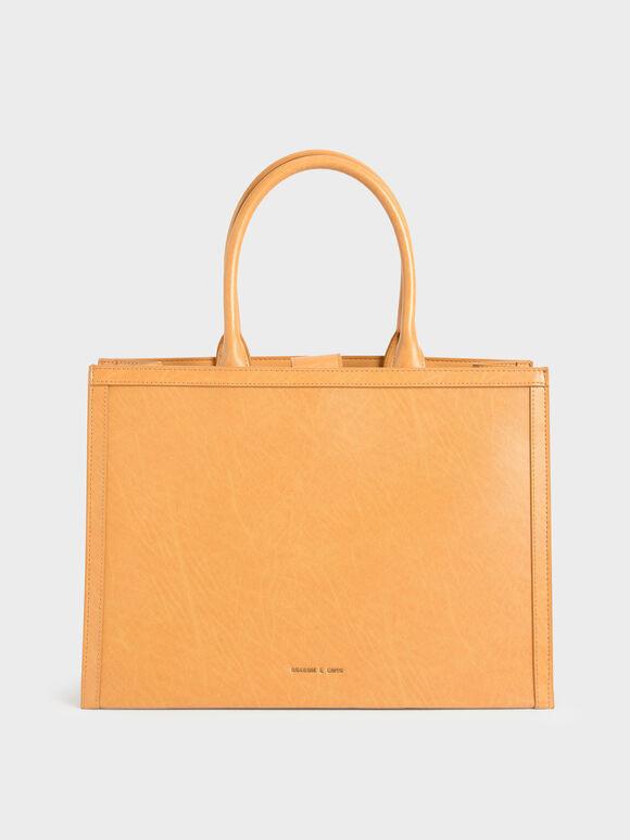 Tas Tote Bag Large Double Handle, Mustard, hi-res