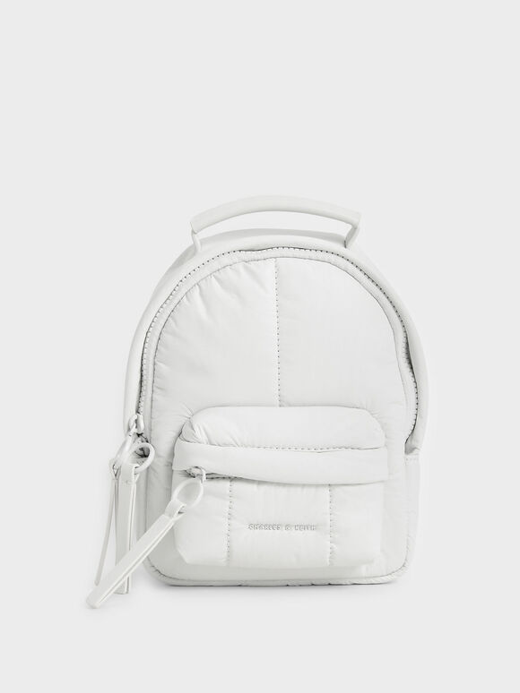 Tas Backpack Puffy, White, hi-res