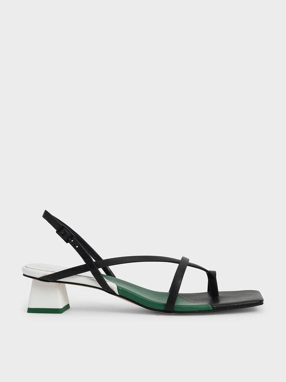 Sandal Strappy Slingback, Multi, hi-res