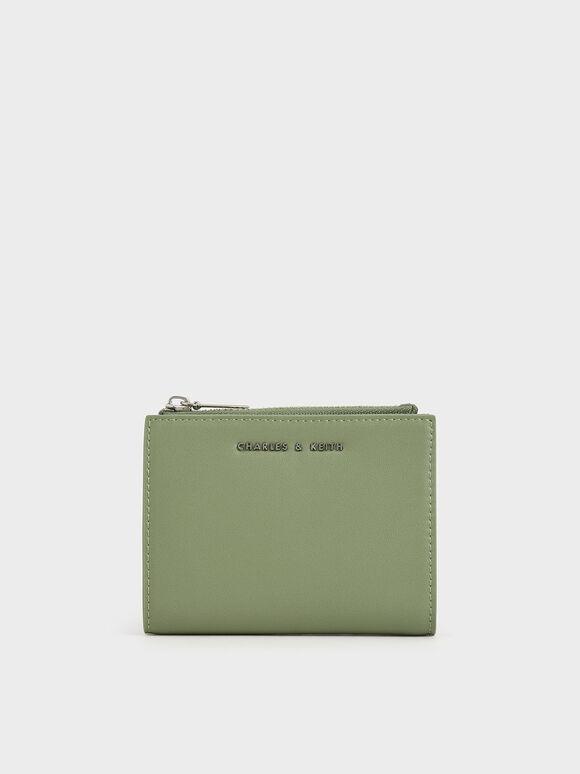 Dompet Kecil Mini Top Zip, Sage Green, hi-res