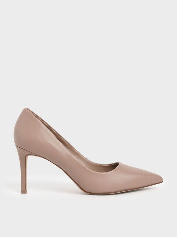 Sepatu Pointed Toe Pumps, Pink, hi-res