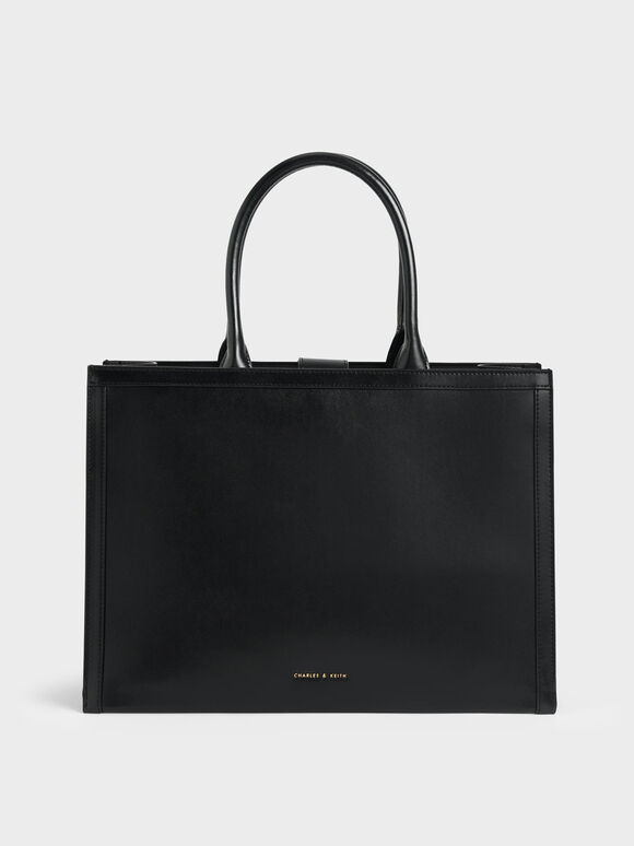 Tas Tote Bag Large Double Handle, Black, hi-res
