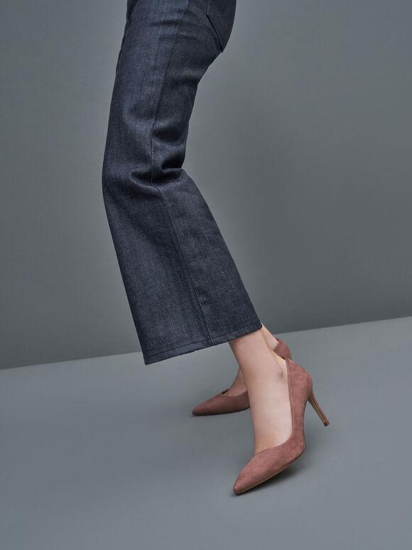 Sepatu Pointed Toe Stiletto Pumps, Mauve, hi-res