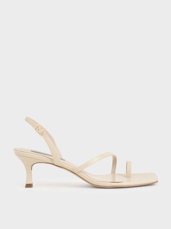 Sandal Toe Ring Slingback, Chalk, hi-res
