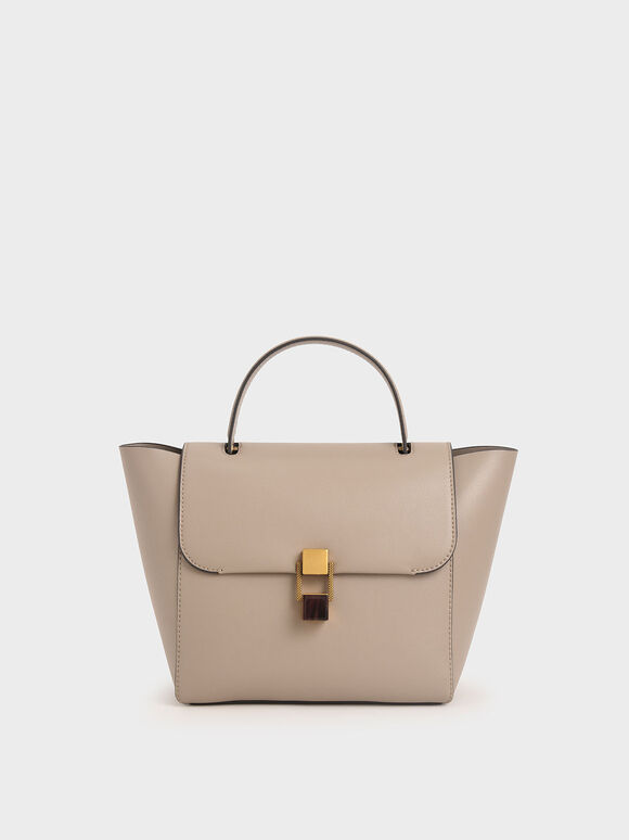 Tas Stone-Embellished Trapeze, Taupe, hi-res