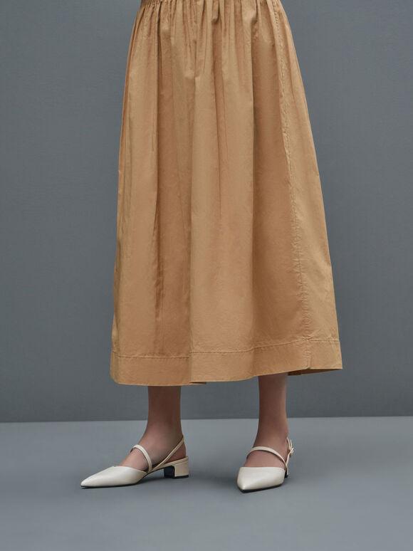 Sepatu Slingback Heeled Mary Janes, Chalk, hi-res