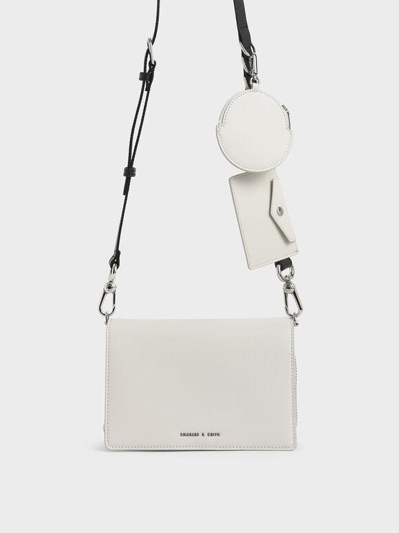 Multi-Pouch Crossbody Bag, White, hi-res
