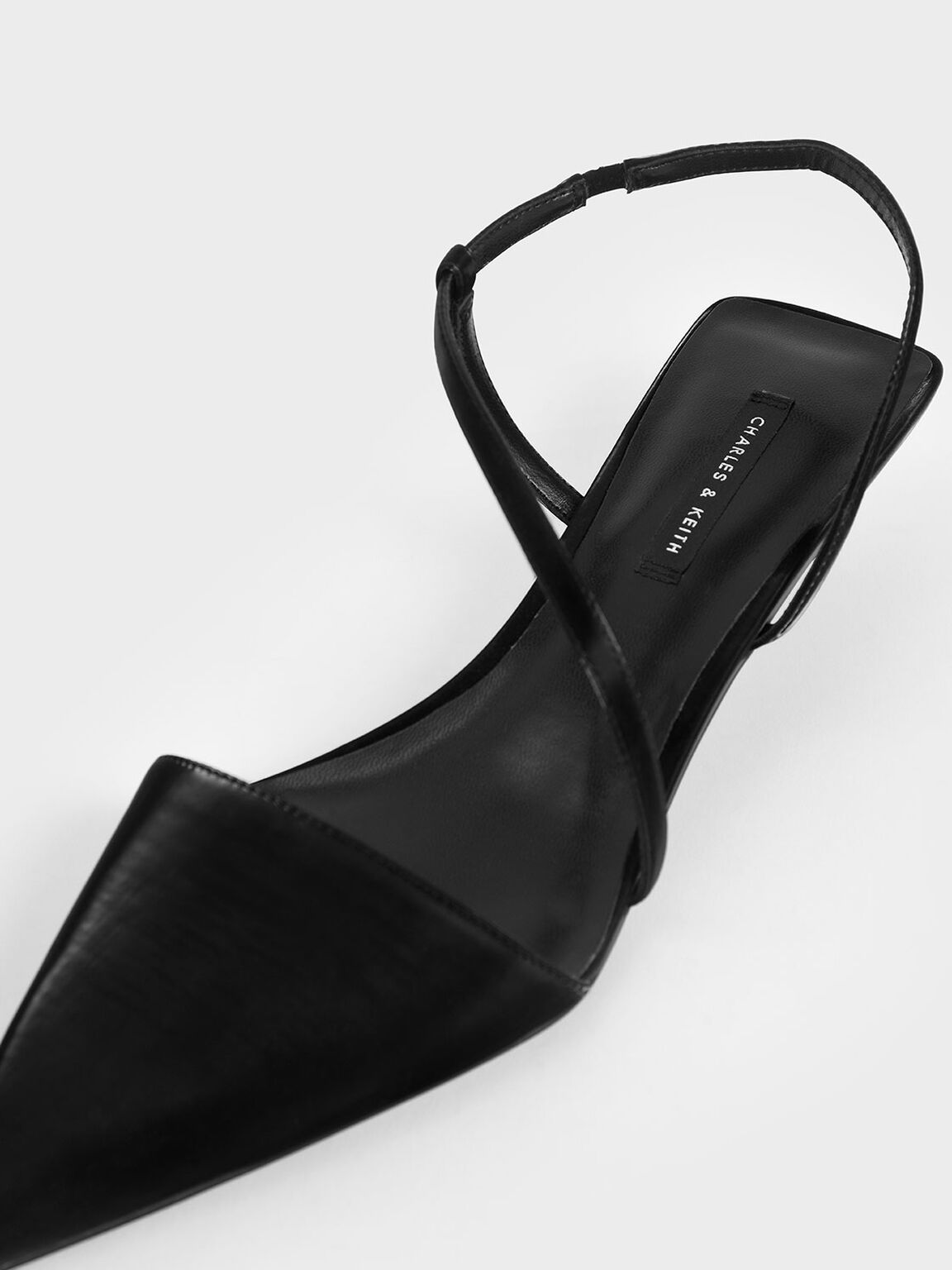 Asymmetric Strap Pumps, Black, hi-res