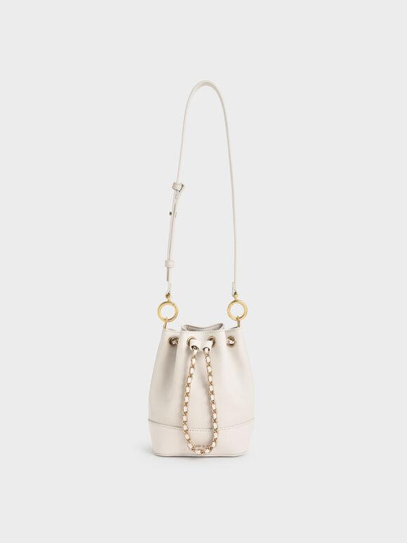 Tas Bucket Chunky Chain, Ivory, hi-res