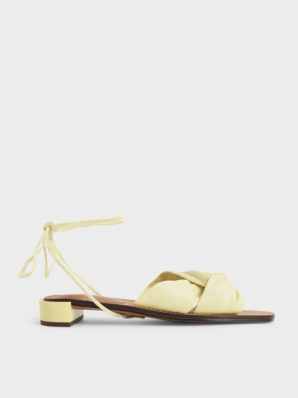 Sandal Knotted Tie-Around, Yellow, hi-res