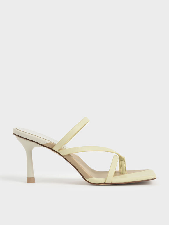 Sandal Strappy Toe Ring, Yellow, hi-res