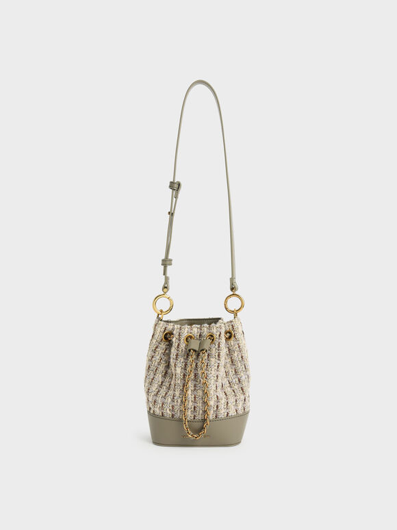 Tas Bucket Chunky Chain, Taupe, hi-res
