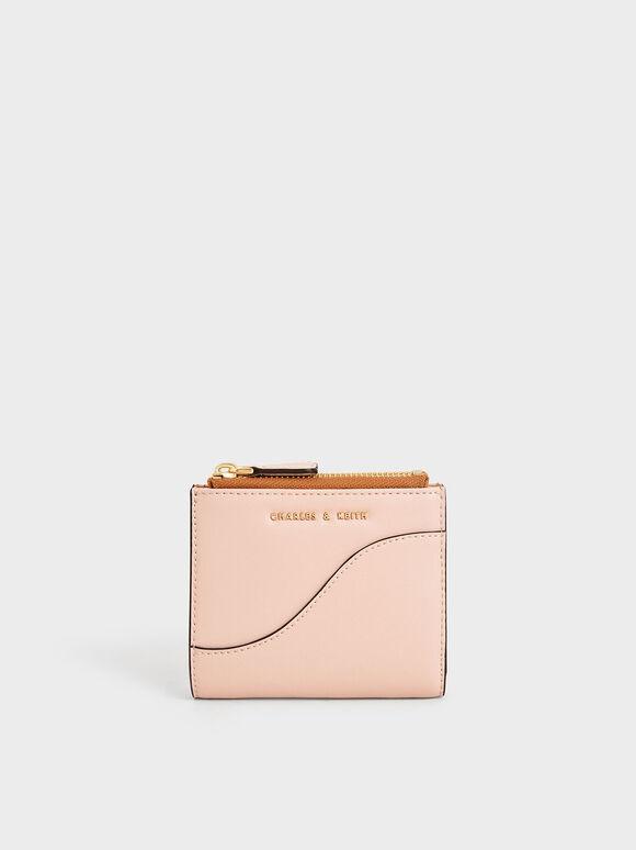 Dompet Mini Ritsleting Atas, Pink, hi-res
