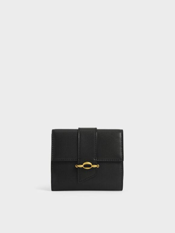 Dompet Kecil Belt Buckle Strap, Black, hi-res