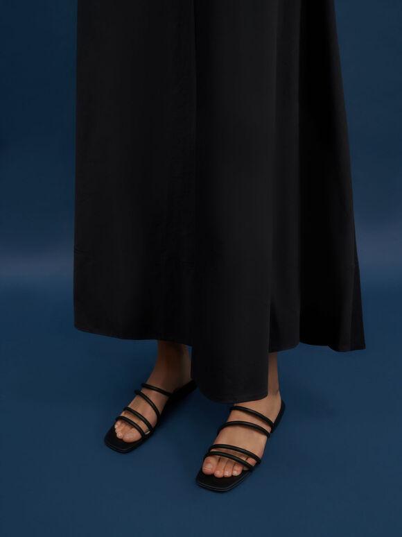 Sepatu Tubular Mules, Black, hi-res