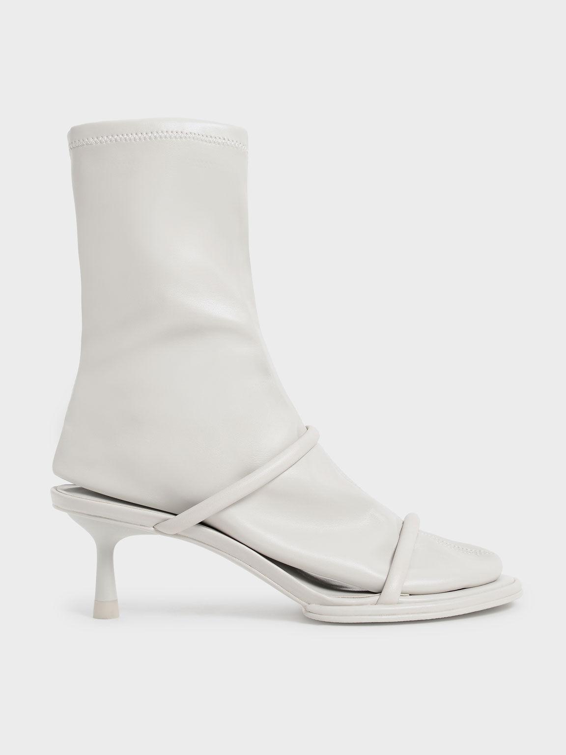Lucile Stiletto Calf Boots, Grey, hi-res
