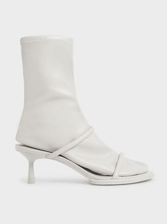 Sepatu Calf Boots Lucile Stiletto, Grey, hi-res