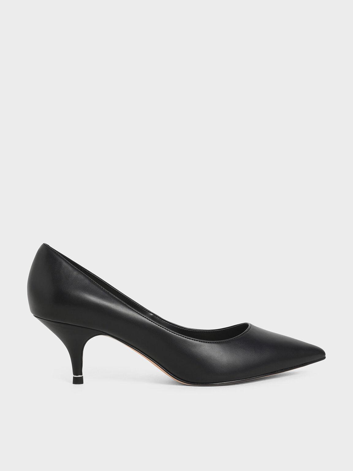 Sepatu Classic Pointed Toe Pumps, Black, hi-res