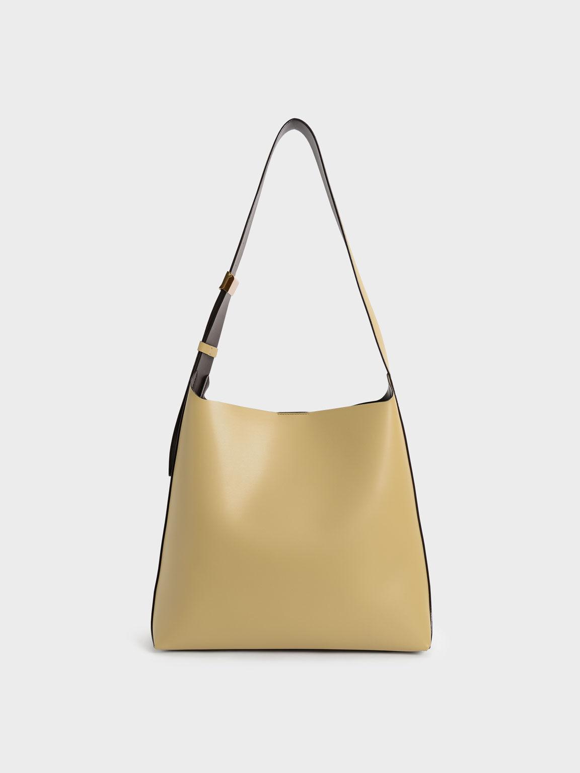 Single Handle Large Hobo Bag, Sand, hi-res