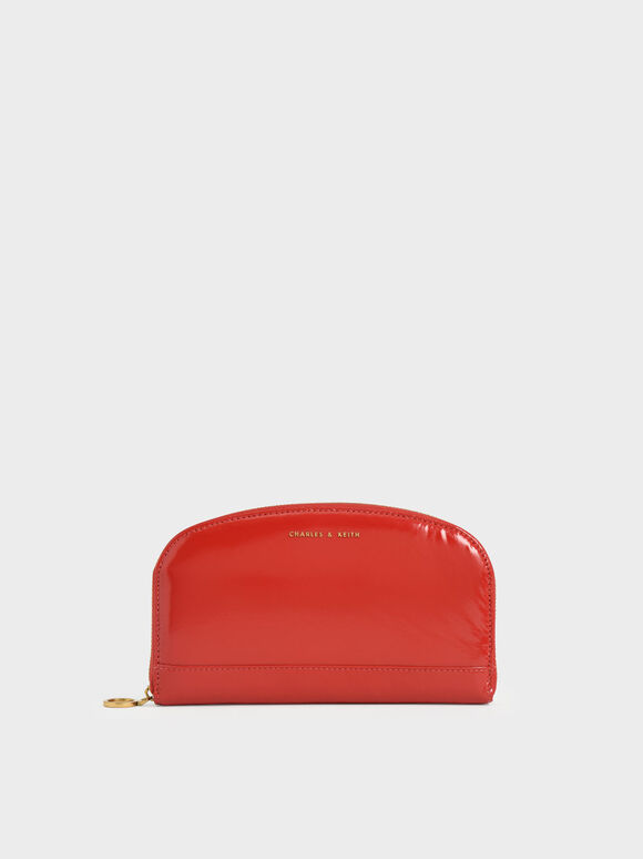 Dompet Panjang Curved Mini, Red, hi-res