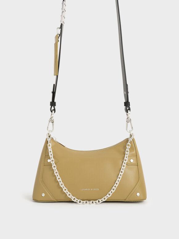Chain Handle Crossbody Bag, Sand, hi-res