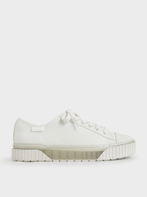 Purpose Collection 2021: Sepatu Platform, White, hi-res