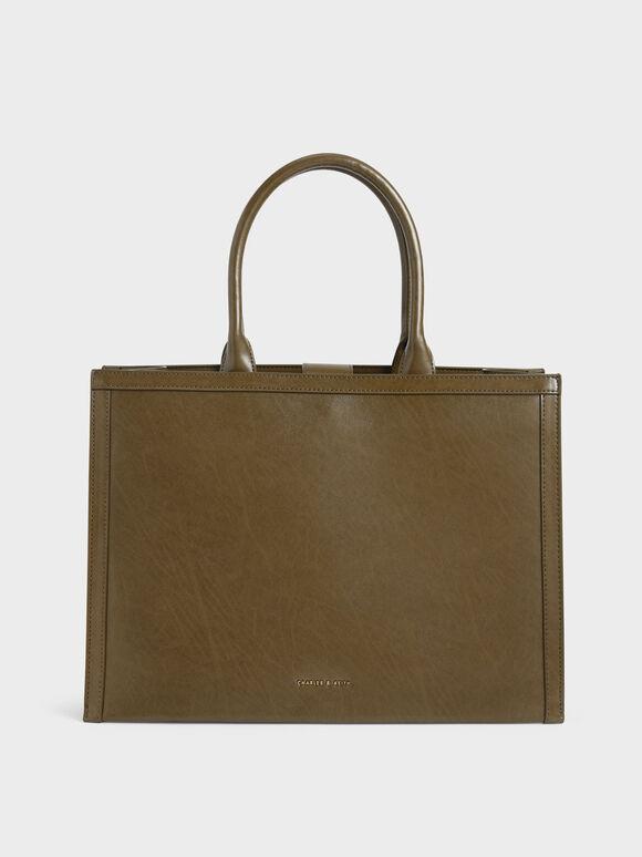 Charlot Tote Bag, Olive, hi-res