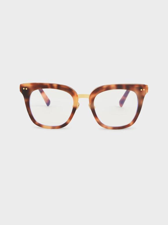 Acetate Tortoiseshell Square Sunglasses, T. Shell, hi-res