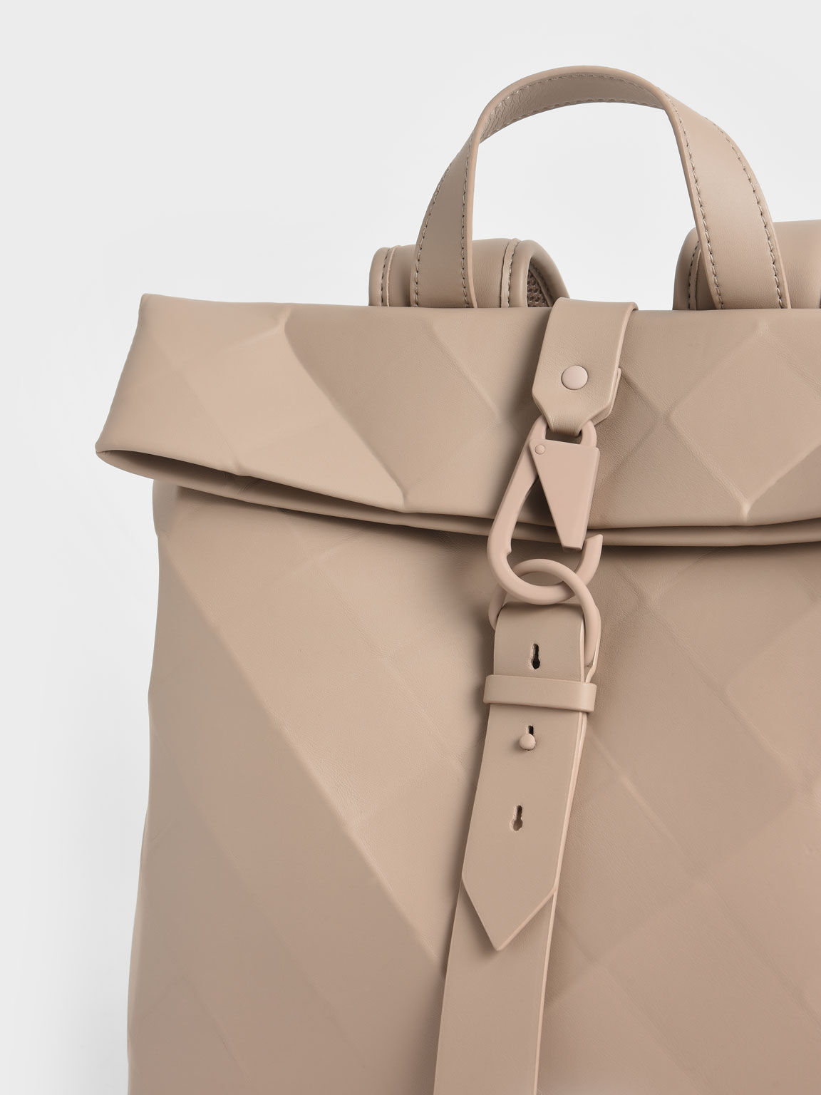 Tas Backpack Large Geometric, Sand, hi-res