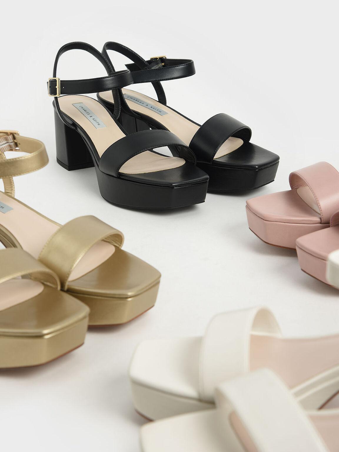 Sandal Platform Ankle Strap, Pink, hi-res