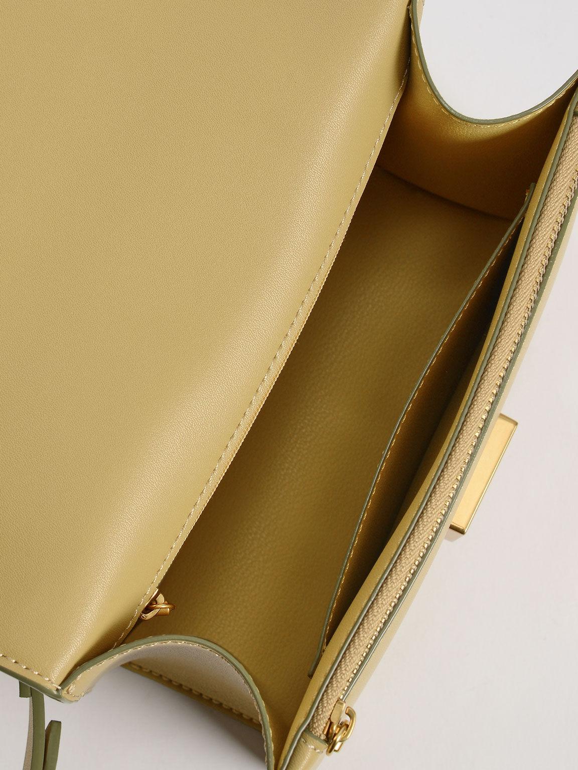 Twist Handle Shoulder Bag, Sand, hi-res