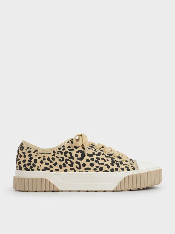 Purpose Collection 2021: Organic Cotton Platform Sneakers, Beige, hi-res