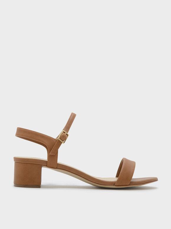 Sandal Basic Open-Toe, Camel, hi-res