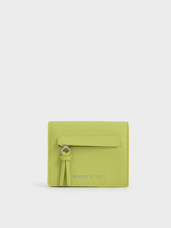 Snap Button Card Holder, Lime, hi-res