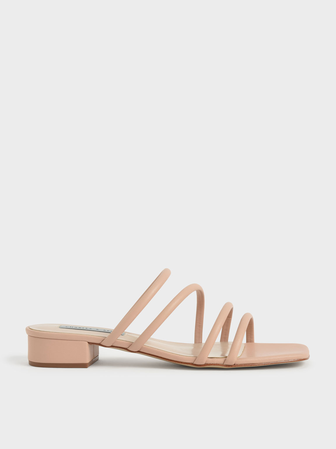 Sepatu Tubular Mules, Nude, hi-res