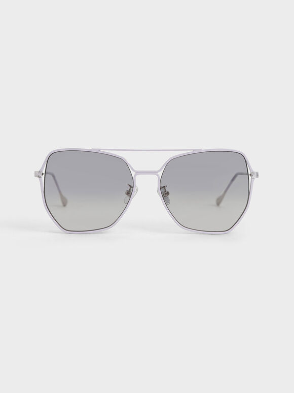 Tinted Butterfly Sunglasses, Lilac, hi-res