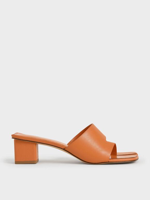 Sandal Cut-Out Thong, Orange, hi-res