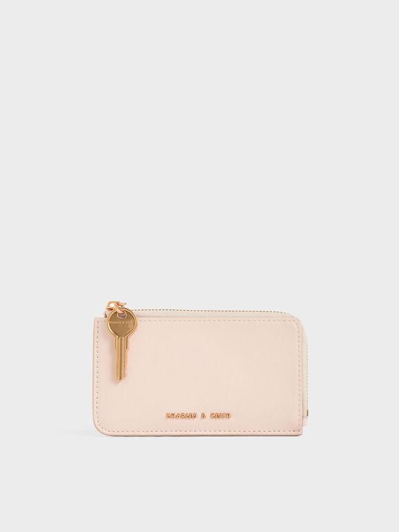 Dompet Kecil Zip-Around, Light Pink, hi-res
