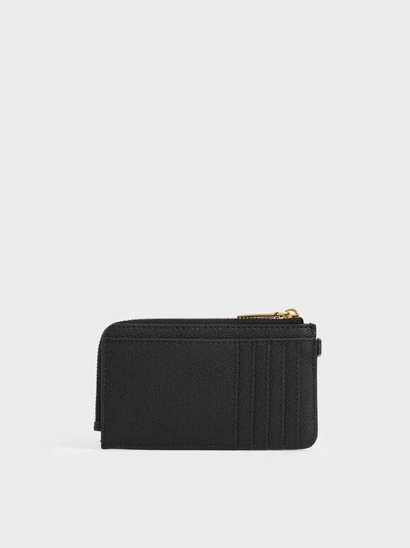 Multi-Slot Wristlet Card Holder, Black, hi-res