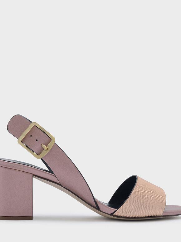 Sling Back Heels, Rose Gold, hi-res