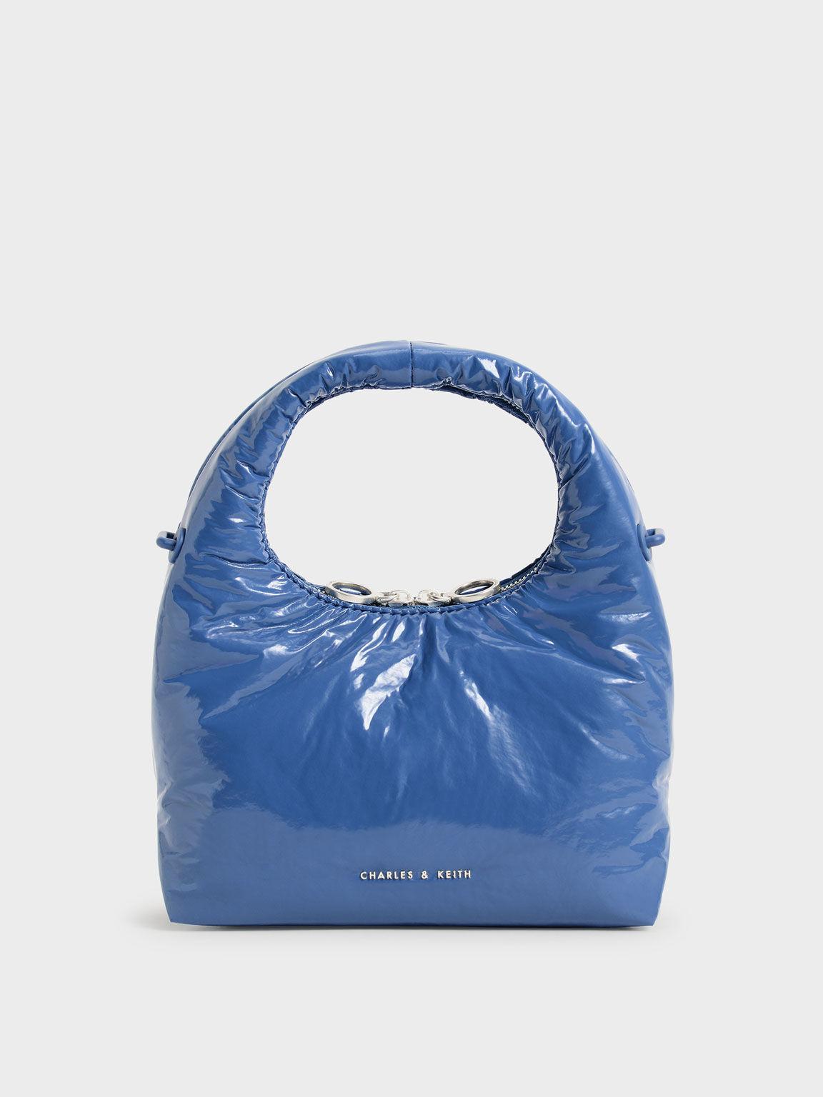 Tas Puffy Wrinkled-Effect, Blue, hi-res