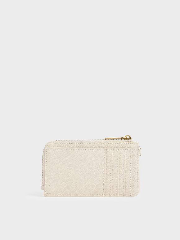 Multi-Slot Wristlet Card Holder, Cream, hi-res