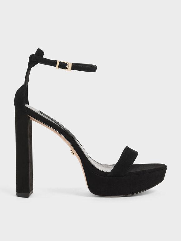 Sandal Platform (Kid Suede), Black, hi-res