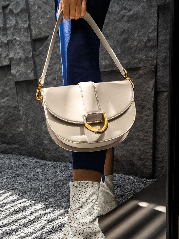 Gabine Saddle Bag, Cream, hi-res