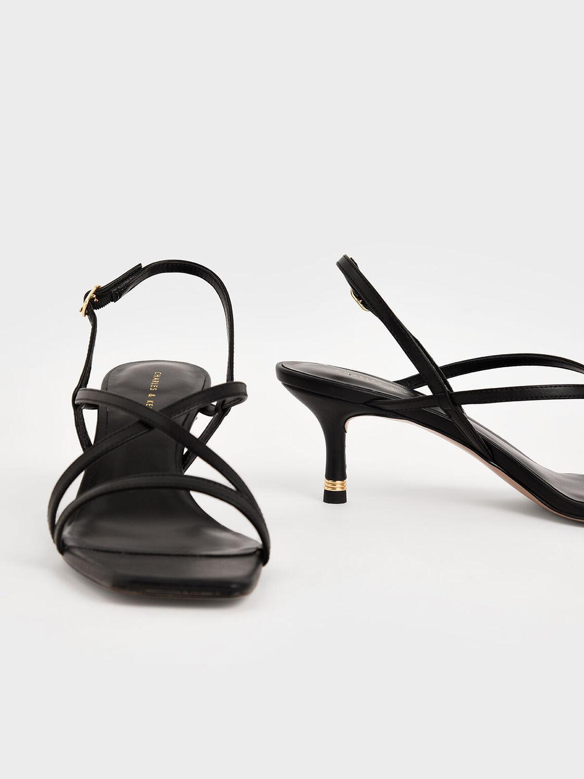 Sandal Slingback Bertali, Black, hi-res