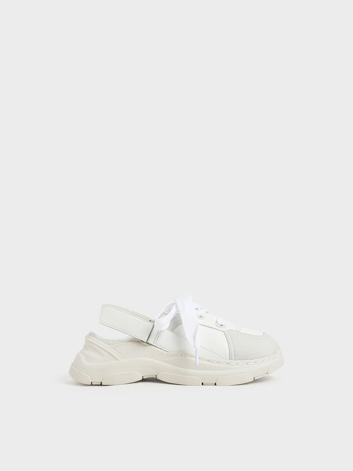 Sepatu Slingback Anak Perempuan, White, hi-res
