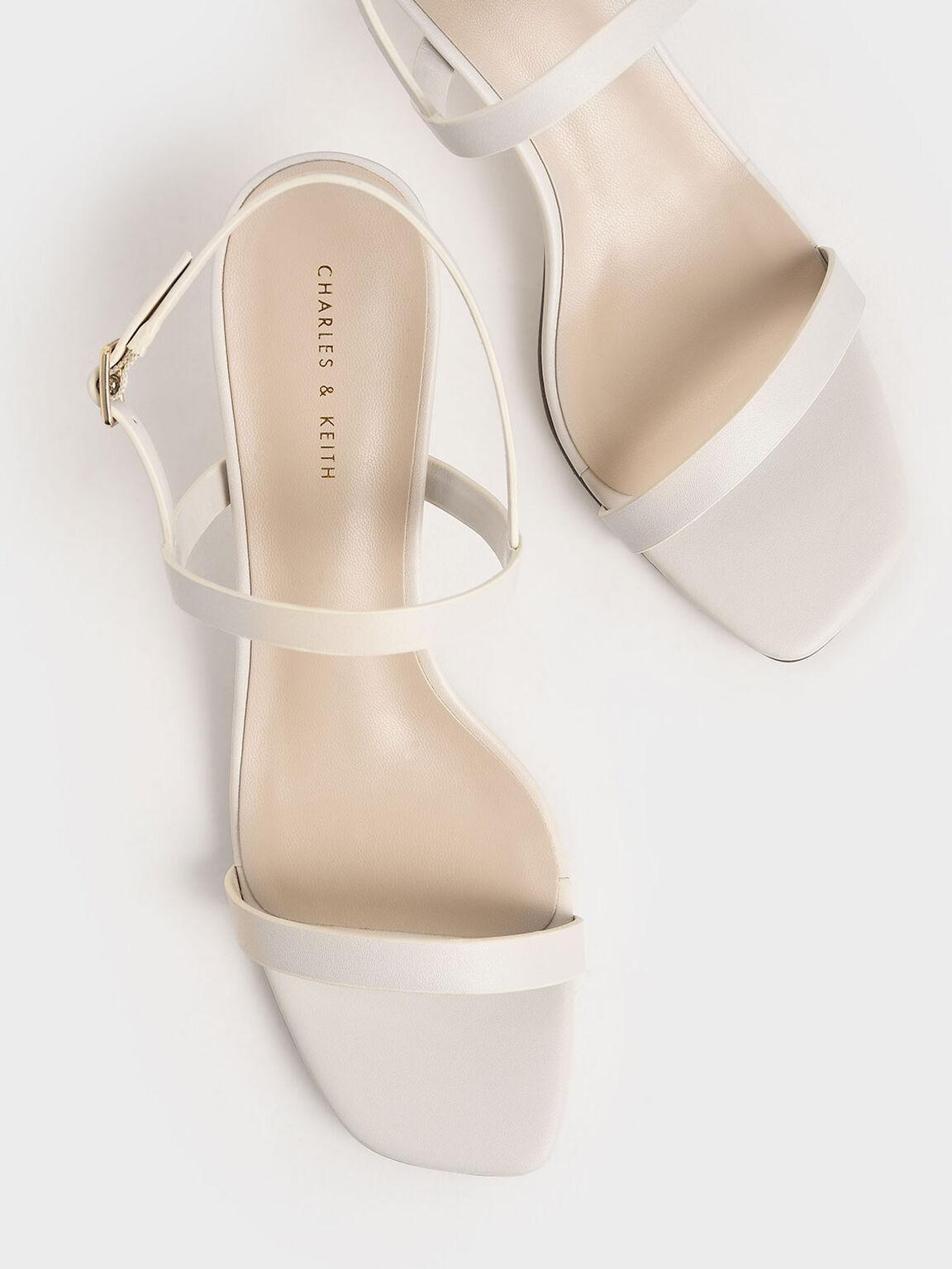Sandal Metallic Ankle Strap, Chalk, hi-res